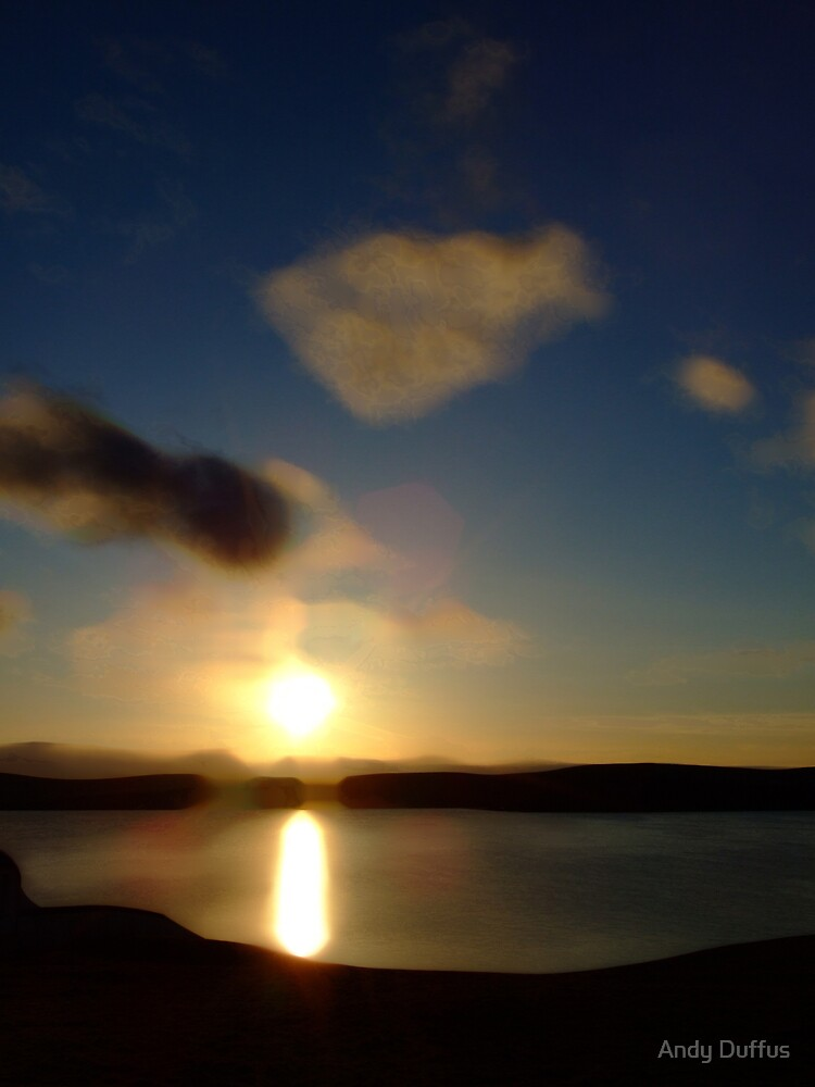 Sunset over Quarff by Andy Duffus