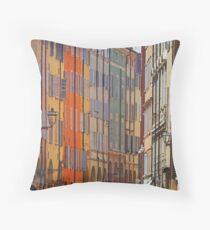 Modena - Streetscape stripes Throw Pillow
