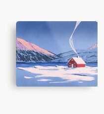 Red House Metal Print