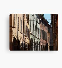 Modena - shadows, shutters and arches Canvas Print