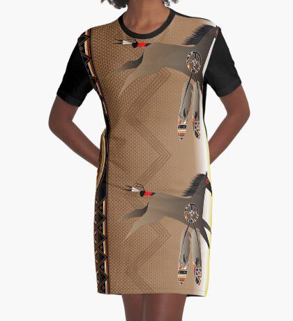 War Horse Graphic T-Shirt Dress