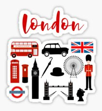 London, England Symbols - Wahrzeichen Sticker