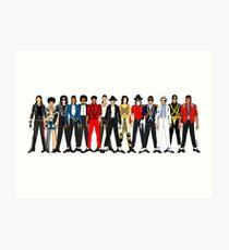 Outfits of Jackson LV Art Print