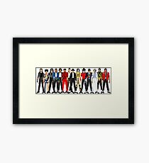 Outfits of Jackson LV Framed Print