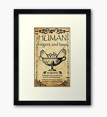 Halloween sticker, human toys and fingers Framed Print