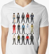 Outfits of King Jackson Pop Music Fashion Men's V-Neck T-Shirt