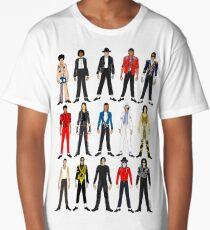 Outfits of King Jackson Pop Music Fashion Long T-Shirt