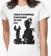 The little prince and the fox - QUOTE - sepia T-Shirt