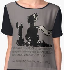 The little prince and the fox - QUOTE - sepia Women's Chiffon Top