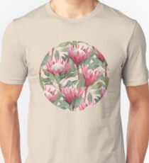 Painted King Proteas on Cream  T-Shirt