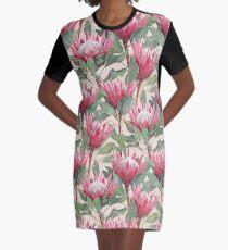Gemalte König Proteas auf Creme T-Shirt Kleid