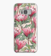 Painted King Proteas on Cream  Samsung Galaxy Case/Skin