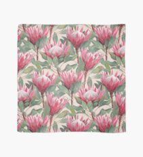 Painted King Proteas on Cream  Scarf