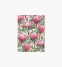 Painted King Proteas on Cream  Art Board