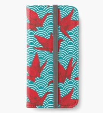 Red Origami Birds iPhone Wallet/Case/Skin