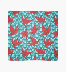 Red Origami Birds Scarf