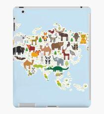 Eurasia Animal Map light blue iPad Case/Skin