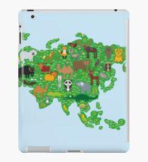 Eurasia Animal Map Green iPad Case/Skin
