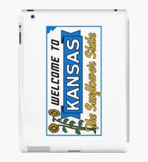Welcome to Kansas Sign Vintage 50s iPad Case/Skin