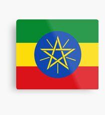 Äthiopien-Flagge - äthiopischer Aufkleber Metalldruck