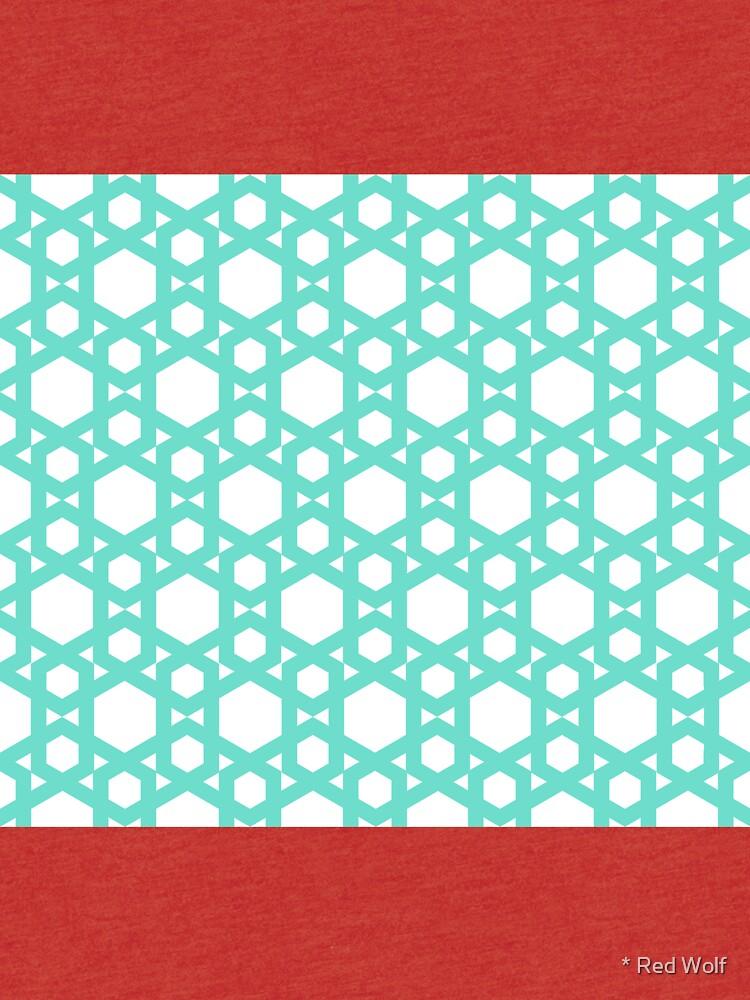 Geometric Pattern: Hexagon: Blue by redwolfoz