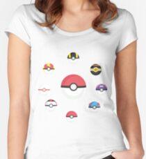 Pokeballs Women's Fitted Scoop T-Shirt