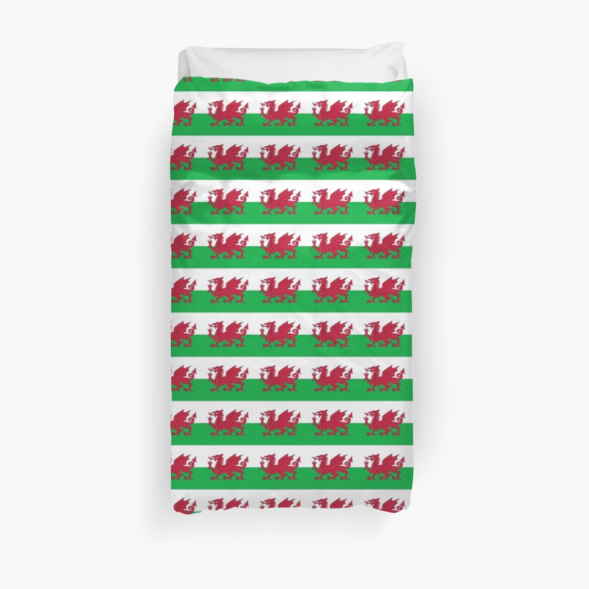 Wales Dragon Duvet Cover Bedspread Welsh Flag by deanworld