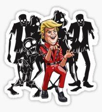 Trump Halloween Thriller Sticker