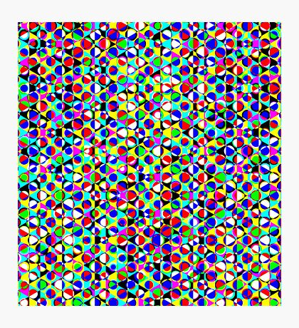 Dot triangle pattern Photographic Print