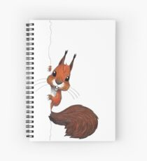 Happy Squirrel Peekaboo! Spiral Notebook