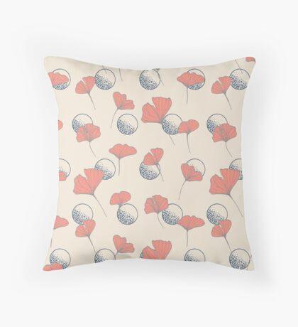 Delicate Ginkgo & Dots #redbubble #decor #buyart Throw Pillow