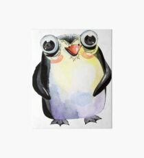 Cute Watercolour Animals Penguin Art Board