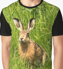 Wild Hare Portrait Graphic T-Shirt