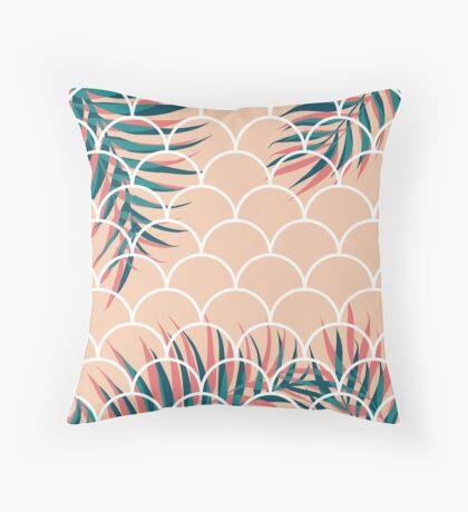 Tropical Window #redbubble  #decor #buyart Throw Pillow
