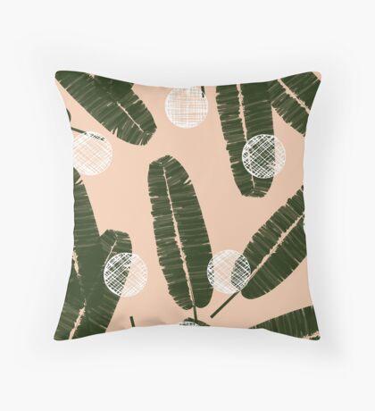 Palms & Dots #redbubble #decor #buyart Throw Pillow