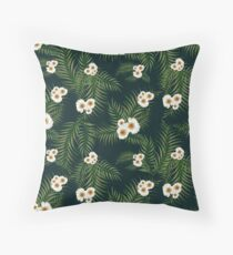 Gloomy Jungle Pattern Throw Pillow