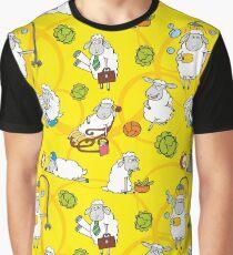 Cartoon sheeps Graphic T-Shirt