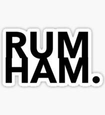 Rum Ham Design Sticker