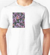 Mauve and Lilac Flowers T-Shirt
