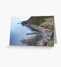 Scottish Village at the Seaside Greeting Card