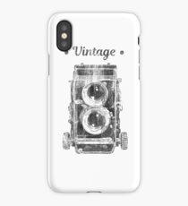 Retro 2 lens photo camera vintage design iPhone Case/Skin