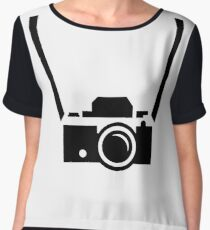 CAMERA SILHOUETTE - Cool, iconic, graphic photo Women's Chiffon Top