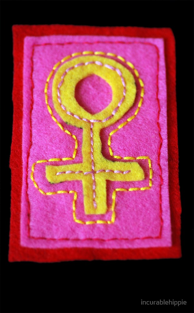 Hand-Embroidered Venus Symbol by incurablehippie