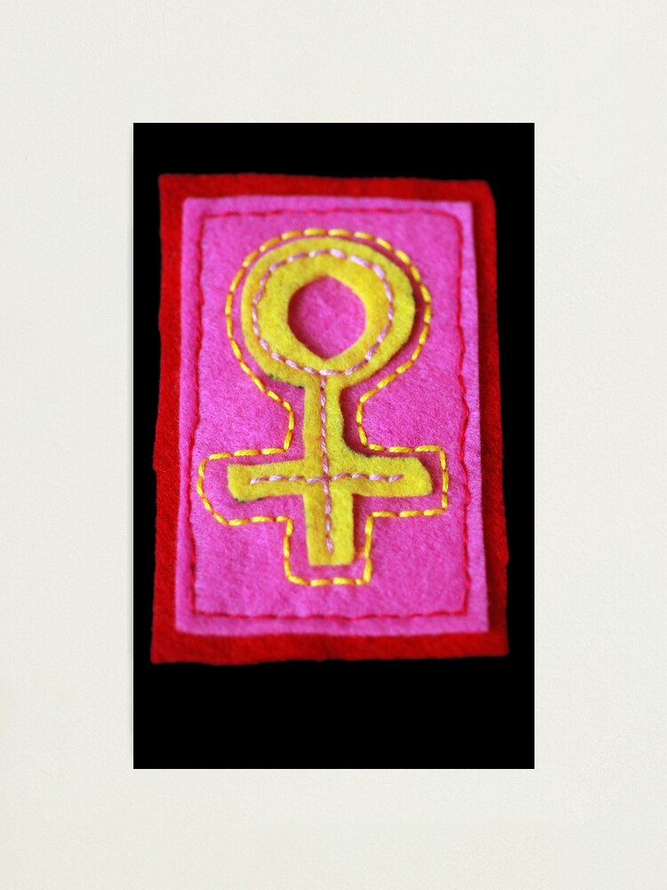 Alternate view of Hand-Embroidered Venus Symbol Photographic Print