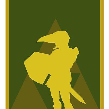 The Legend of Zelda minimalist art #1 by Rattaspi
