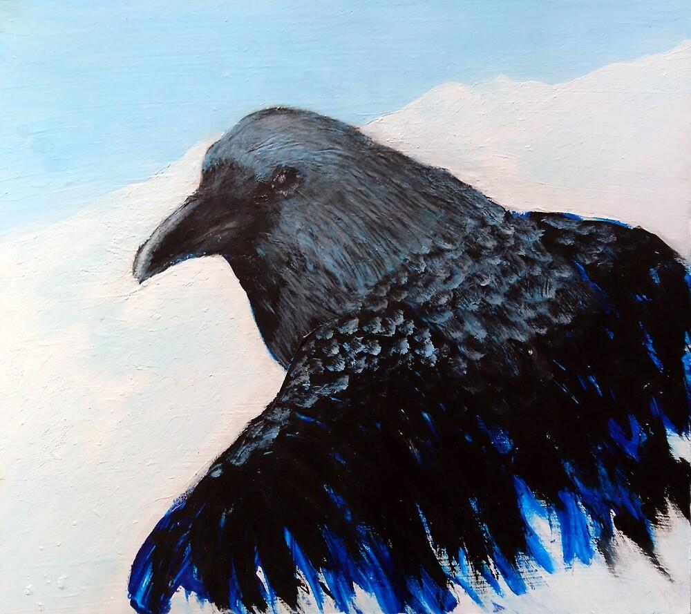 Raven Emerging by Linda Ursin