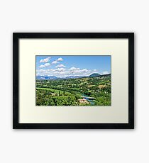 Rural Alpes-de-Haute-Provence in the Summer Framed Print