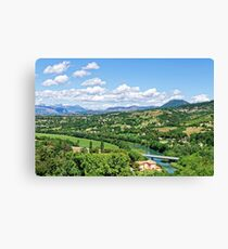 Rural Alpes-de-Haute-Provence in the Summer Canvas Print