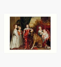 Five Eldest Children of Charles I 1637 Anthony van Dyck Art Print
