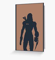 Mass Effect minimalist art Greeting Card